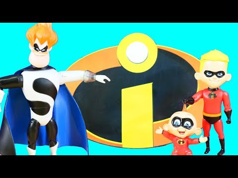 Original Incredibles Complete Toy Set Disney Store Exclusive With Mr. Incredible + Power Rings