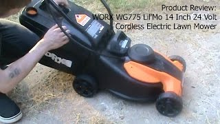 Product Review:  WORX WG775 Lil'Mo 14-Inch 24-Volt Cordless Lawn Mower