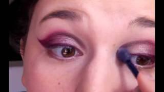 Kocie oko w fiolecie - kurs makijażu