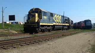 Trem MRS chegando em PCZ Guarujá SP e locomotivas Rumo na manobra
