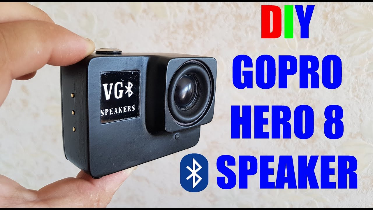 DIY Bluetooth Speaker |GOPRO HERO 8| With RGB VGB Logo