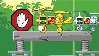 Bad Piggies Stop Stop Stop! PIGGY STEALING GOLDEN EGG WITH A PLANE!