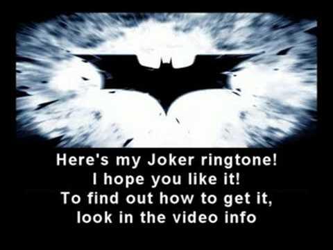 The Dark Knight - Joker ringtone