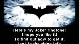 The Dark Knight - Joker ringtone