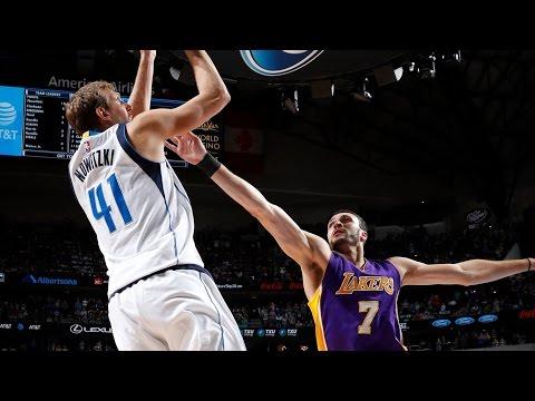 Dirk Nowitzki 6th Player to Score 30K Points in NBA History! Lakers vs Mavericks