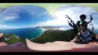 OVNI 360º Voo duplo na praia do Santinho em Floripa