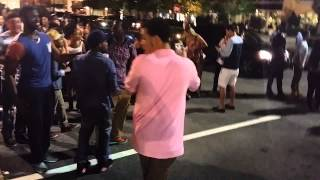 Guy knocks out girl outside the club