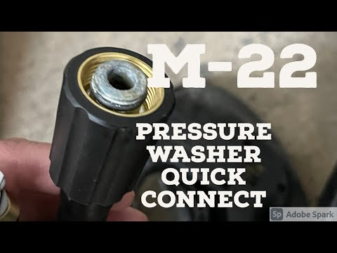 M-22 by 15mm/14mm Quick Connects for Pressure Washers Explained