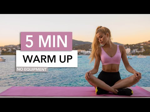 5 MIN WARM UP – Slow Version – get ready for your workout / No Equipment I Pamela Reif