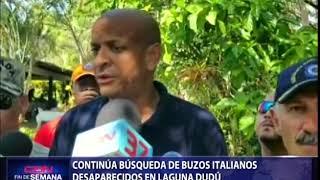 Continúa búsqueda de buzos italianos desaparecidos en Laguna Dudú
