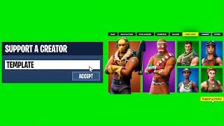 FORTNITE SUPPORT A CREATOR CODE ANIMATION [FIVERR]