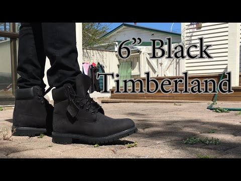 Timberland | 6 inch Premium Boot | Black on Black | On Feet