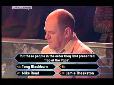 how challenge should of edited the jimmy saville fastest finger first question on millionaire. Black Bedroom Furniture Sets. Home Design Ideas