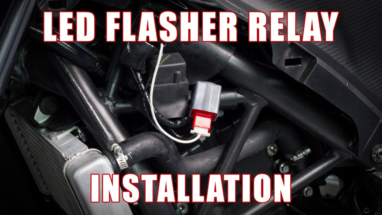 how to install led flasher relay on a honda cbr300r 250r by tst industries [ 1280 x 720 Pixel ]
