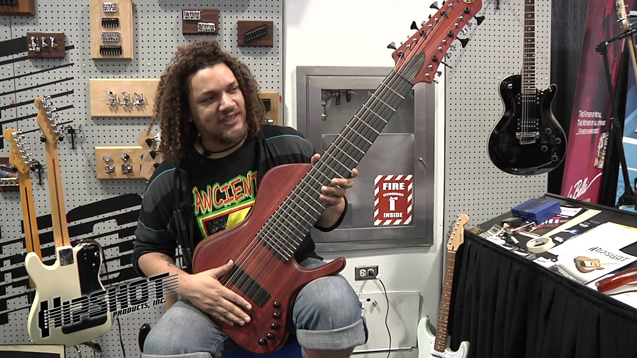8 String Guitar >> Scott Fernandez's 18 String Bass Guitar - YouTube