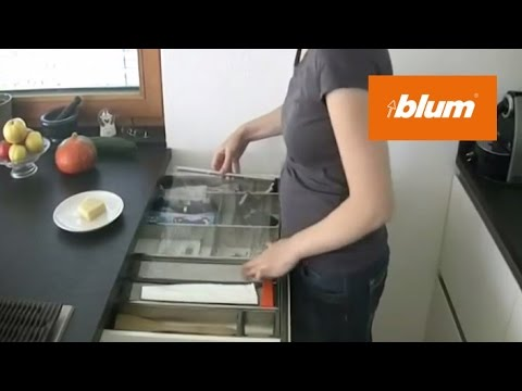 Orga Line Foil Dispenser In The Daily Kitchen Work Blum Youtube