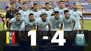 Preolímpico Sub-23: Argentina 4-1 Venezuela (RESUMEN Y GOLES)