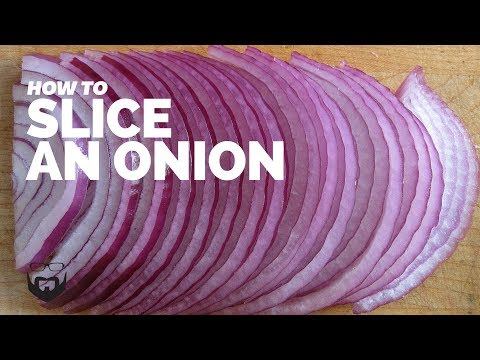 How to Slice an Onion (Julienne or French Cut)