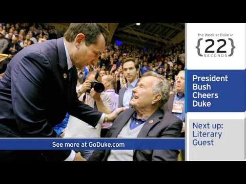 The Week at Duke {in 60 Seconds}: President Bush; Graduation Speaker; Gas Leak Study