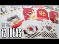 DIY Gift Tags - 12 Ideas - Easy & Cheap using basic craft supplies