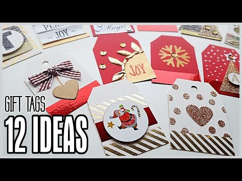 DIY Gift Tags - 12 Ideas - Easy & Cheap Using Basic Craft Supplies