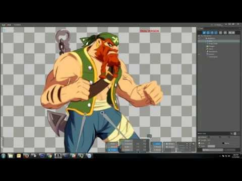Spine 2d animation  Quick prepare a 2d character in Photoshop for Setup animation