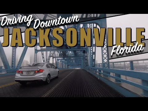 Driving Downtown Jacksonville Florida 4k