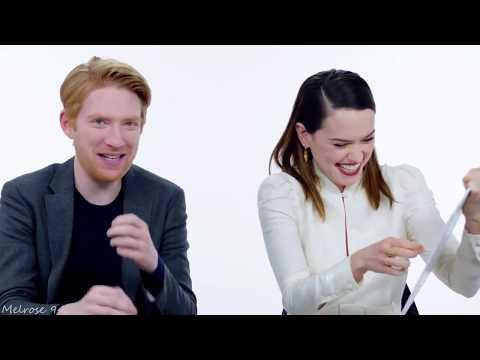 Funny moments ll Daisy Ridley & Domhnall Gleeson