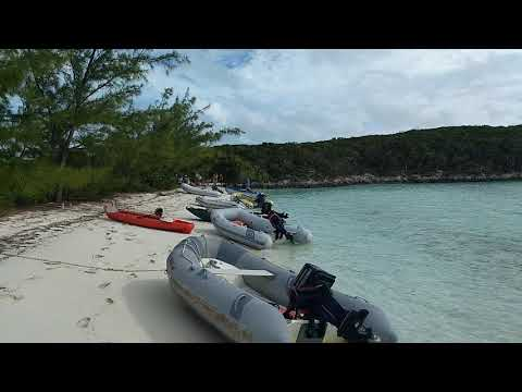 Honeymoon Beach Thanksgiving get together. Stocking Island Bahamas