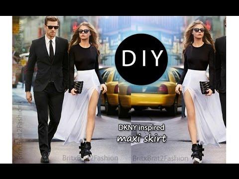 DIY DKNY inspired Maxi Skirt - YouTube