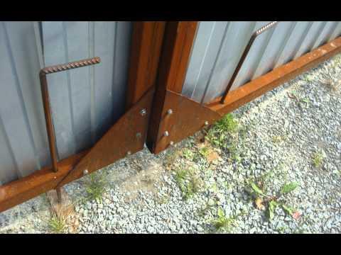 Распашные Ворота с калиткой  своими руками  2часть (фото)