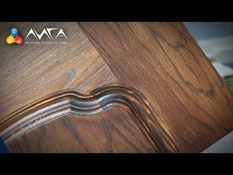 Как красиво покрасить деревянную дверь