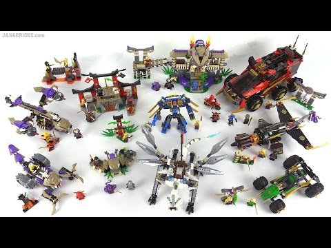 Lego Ninjago 2015 All Wave 1 Sets Together Youtube