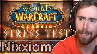 """Asmongold Reacts to """"An Adventure in the Classic WoW Stress Test"""" by Nixxiom"""