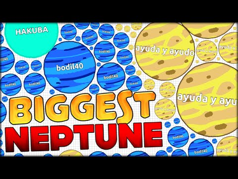 HACKER IN AGARIO? DING DING AGARIO WORLD RECORD - THE BIGGEST NEPTUNE (NEW SKINS!!) (Agar.io #103)