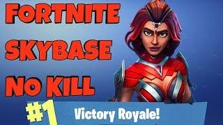 UNBELIEVABLE NO KILL SKYBASE WIN! - Fortnite Battle Royale