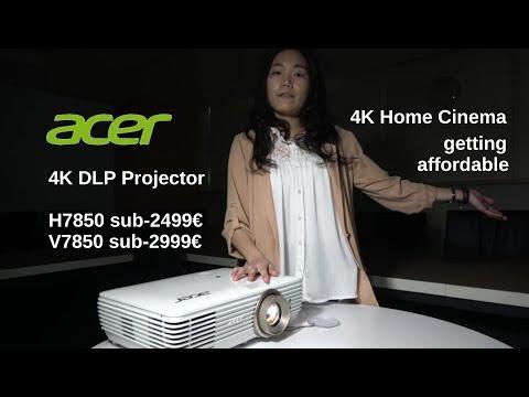 Acer H7850/V7850 4K DLP Projector
