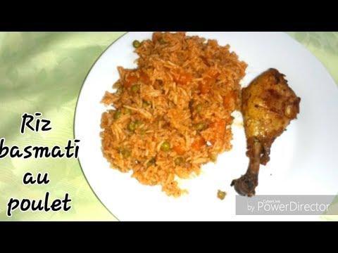 Riz Basmati Au Poulet Facile Et Rapide    أرز البسماتي بالدجاج سهل و سريع و النتيجة بنة روعة