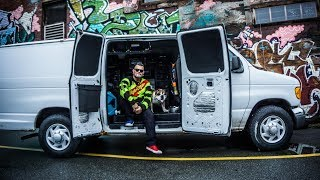 STEALTH VAN TOUR :Full Time City Van Dweller + Dog Escape high Rent For Converted Van.