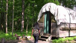 Covered Wagon Camping For Girl Scouts
