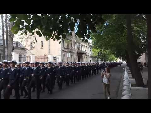 Колонна курсантов на 9 мая в Одессе