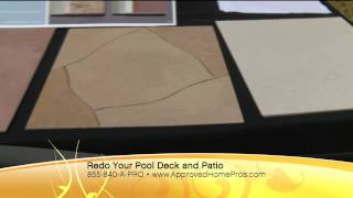 Pool Decks by Life Deck Coating Installations on The Home Pro Show