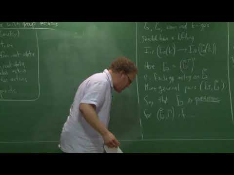 Root data with group actions by Jeff Adler, American University, USA