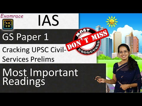 Cracking UPSC Civil Services Prelims (General Studies GS Paper 1): Most Important Readings