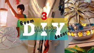 3 New (DIY) room Decor Hacks ||Home decor ideas|| Quick and Easy decor form waste