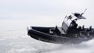 Boomeranger C-950 Special Operations Boat With Ullman Shock Mitigation Boat Seats.
