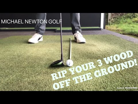 Strike 3 Wood Better From The Ground Golf Swing Tip