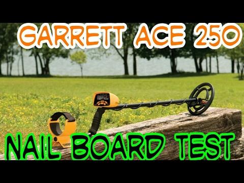garrett ace 250 nail board test odc 20 youtube. Black Bedroom Furniture Sets. Home Design Ideas