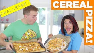Cereal Pizza CHALLENGE! – Eat The Pizza! #4