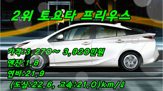 하이브리드 차량  연비 순위  TOP 10